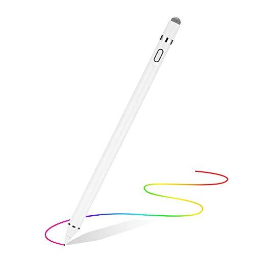GXZOCK Stylus Stift Tablet Stift Eingabestift Touchstift 1,45-mm-Spitze ultrafeinen Spitzen Kompatibel mit iPads Tablets iPhones Samsung Lenovo Smartphones Tablets Weiß