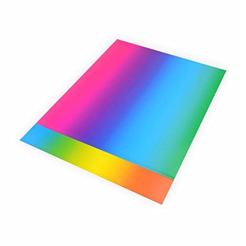 Regenbogen Karton 200g/m², 22,5x32cm 10 Blatt Papier Regenbogenkarton zum basteln