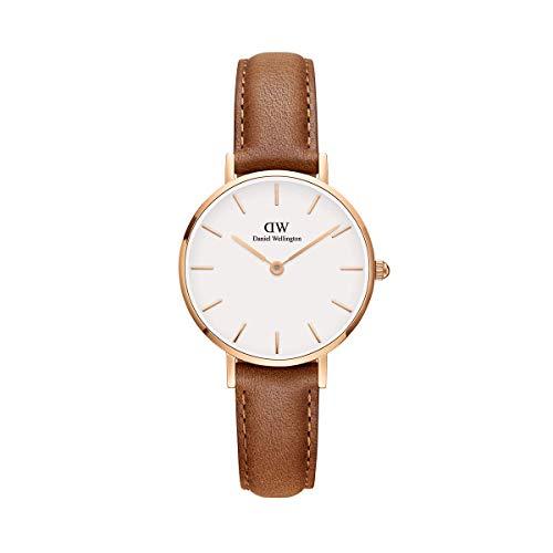 Daniel Wellington Petite Durham, Hellbraun/Roségold Uhr, 28mm, Leder, für Damen