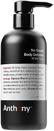 Anthony No Sweat Body Defense Anti Chafe Talc Free Cream To Powder Lotion 16 Fl Oz Contains product image