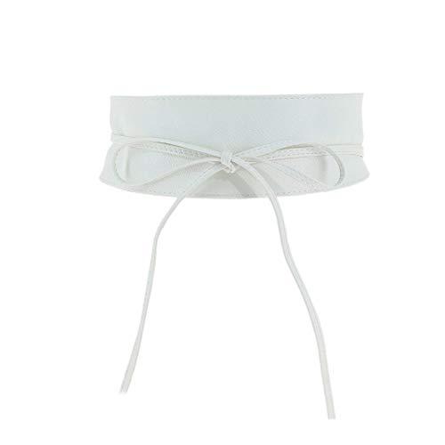 FASHIONGEN - cintura di finta pelle Obi MICA - Bianco, L-XL