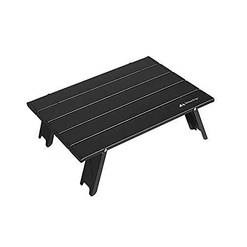 Mesa Plegable para Acampar Mesa De Playa De Aluminio Portátil Mini Plegable Lejos De La Arena Y El Polvo. Adecuada para Acampar Picnic De Viajes Al Aire Libre Playa (Negro,40.5×29×13CM)