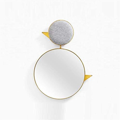 MMJFKF Cuarto de baño montado en la pared de espejo, diseño elegante, bordes sin marco contemporáneo con bisel, pendiente de múltiples funciones del hierro espejo de la belleza de almacenamiento imper
