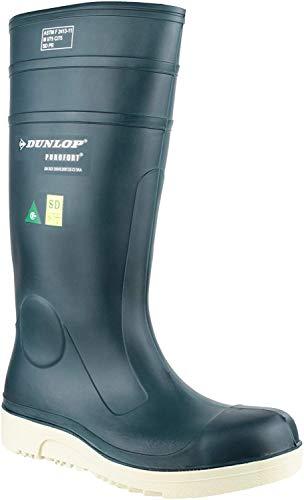 Dunlop Purofort Comfort Grip Full Wellington Boot | Blue | Kid's UK 4 | EU 37