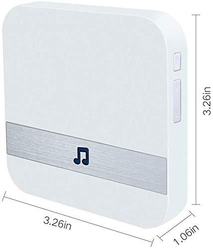 Video Doorbell [Upgrade] Wireless Doorbell Camera IP5 Waterproof HD WiFi Security Camera Real-Time...