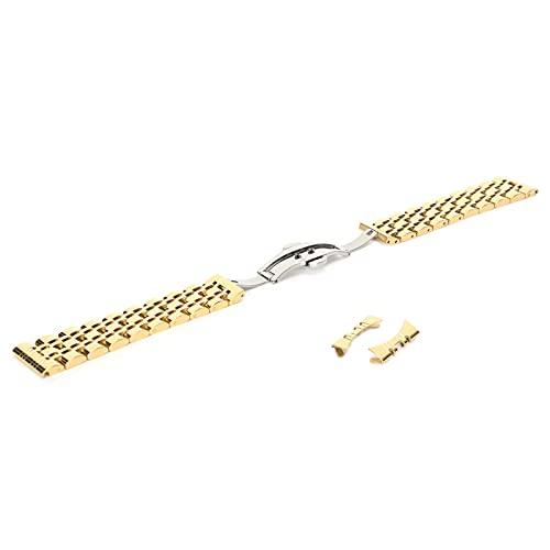 Correa de Reloj de Acero Inoxidable, Correa de Repuesto Ajustable de 21 mm, Correa de muñeca de Repuesto para Familia, Taller de reparación de Relojes para compañeros de Clase
