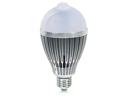 Led4U LED lamp gloeilamp lamp LED verlichting met bewegingsmelder bewegingsmelder PIR sensor licht lamp E27 12W 1100Lm warm wit koud wit (warm wit)