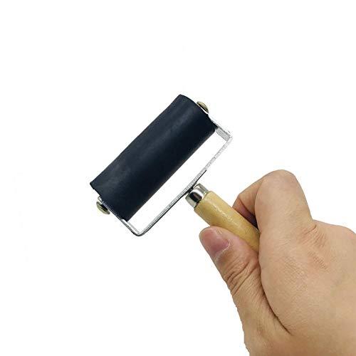 Lankater 1pc Ink Roller, Ink Applicator Printmaking Art Craft Roller, Paint Roller Ink Oil Paint Art Craft Painting Tool, for Craft Projects Ink Stamping, 6cm