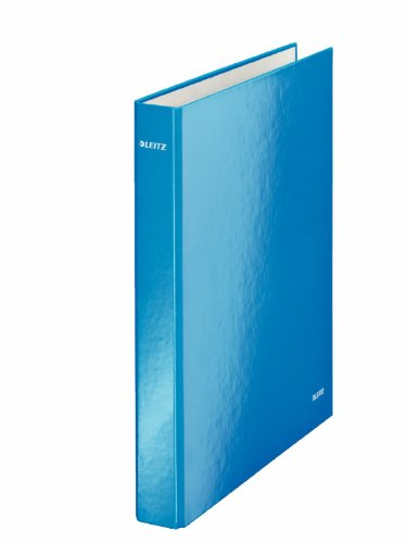 Leitz 2 Ring Binder, Holds up to 230 Maxi Sheets, Wow Range, 40 mm Spine, 42410036 - A4, Blue Metallic