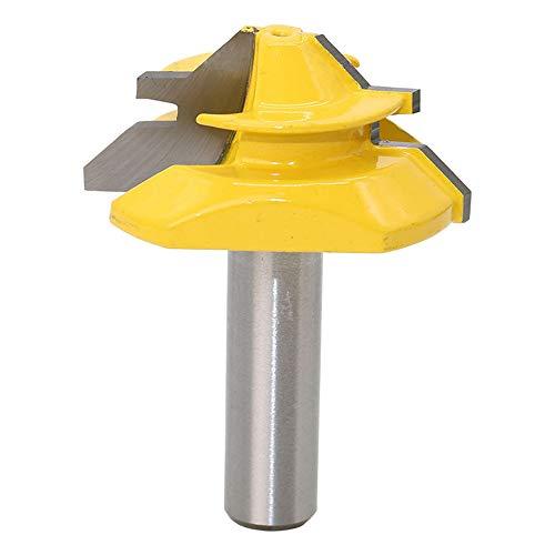 ASNOMY 12.7mm Schaft Verleimfräser Gehrung Verleimfräser Oberfräse 45 Grad Lock Miter Router Bit Holzbearbeitung Fräser Schneidwerkzeug für Graviermaschine Trimmmaschine