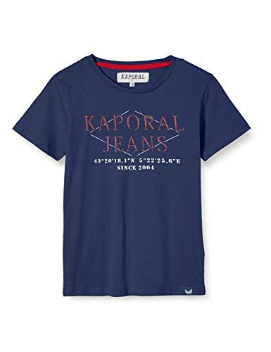Kaporal - T-Shirt à Manches Courtes imprimé Jeans, Coupe Droite - Ewen - Garçon - 14A - Bleu
