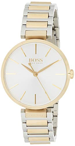 Hugo Boss Damen Datum klassisch Quarz Uhr mit Edelstahl Armband 1502417