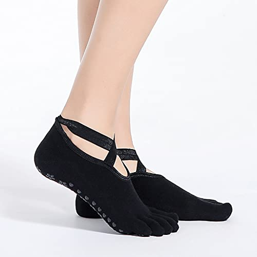 ZSQAW Mujeres Dance Socks Girls Yoga Calcetines Silicona Antideslizante Pilates Barre Transpirable Sports Dance Calcetines de algodón Calcetines Zapatillas