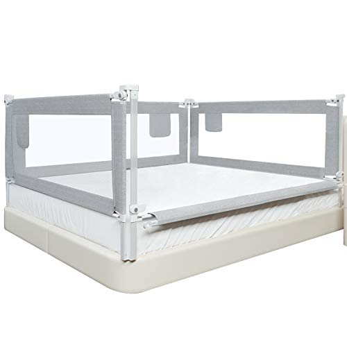 SURPCOS Bed Rails for Toddlers -New Upgraded Extra Long Bed...