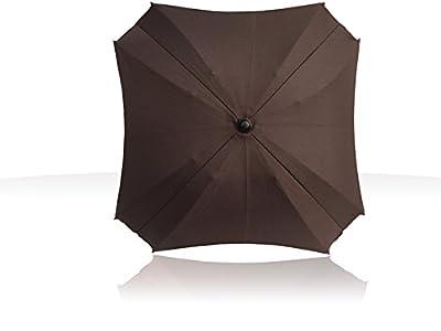 Sombrilla para carritos, con brazo de fijación flexible, con protección UV, 68 cm de diámetro marrón marrón