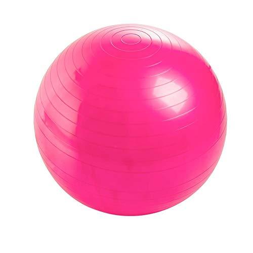 Sebasti Ejercicio fitness yoga pelotas (enviar: bomba de aire, tapón de aire, tirón de aire) se venden uno por uno rosa [inflador] tamaño-diámetro 75 cm material-PVC