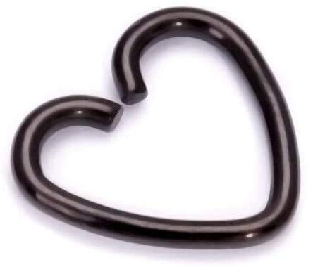 Vision4ever SurgicalSteel Heart Piercing Earring Helix Cartilage Ring Tragus Daith Ring Hoop (6MM)