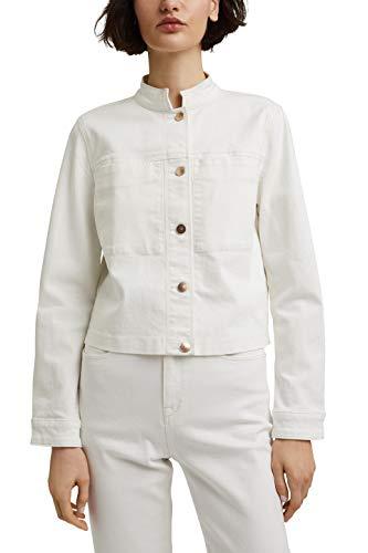 ESPRIT Collection 041EO1G301 Blazer, 110/Off White, M para Mujer