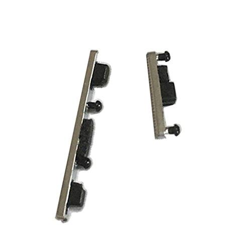 Baoblaze Volume Taste & Power Taste Wiedereinbau Key in 2 verchiedene Farben für Motorola G4 Plus XT1644, XT1642 - Silber