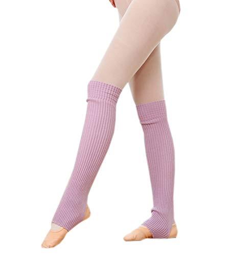 ACVIP Damen Mädchen Ballettstulpen mit Fersenloch Beinwärmer Ballett Stulpen Legwarmer(Lila)