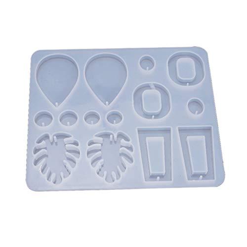 KunmniZ Molde de resina de cristal epoxi para pendientes, molde de silicona para manualidades, herramienta de fabricación de joyas, para Pascua