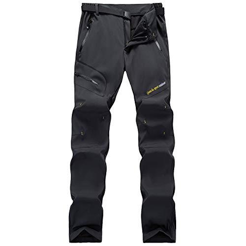 LUI SUI Pantalones de Senderismo de Secado rápido al Aire Libre para Mujer Pantalones de Escalada para Caminar Ligeros a Prueba de Viento