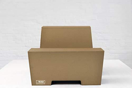 ROOM IN A BOX Stehschreibtisch Monkey Desk Medium/Natur: Faltbares ergonomisches Stehpult, praktischer Ständer für Laptop, PC, Tablet und Monitor, klappbarer Standing Desk für den Schreibtisch
