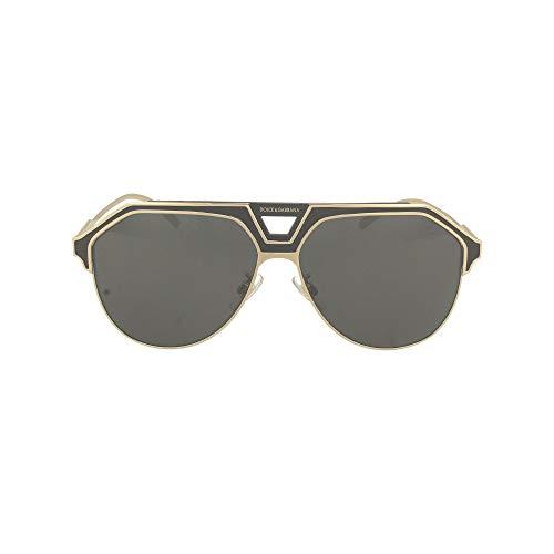 Dolce e Gabbana Moda De Lujo Hombre DG2257133487 Oro Metal Gafas De Sol   Temporada Permanente