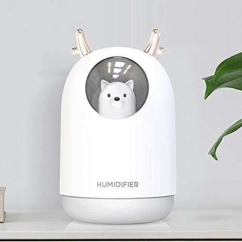 SADSA Humidificador Humidificador de Aire USB 300 ml Cute Pet Ultrasonic Timing Cool Mist Aroma Oil Diffuser AromatherapyLight Humidificador Mist Maker