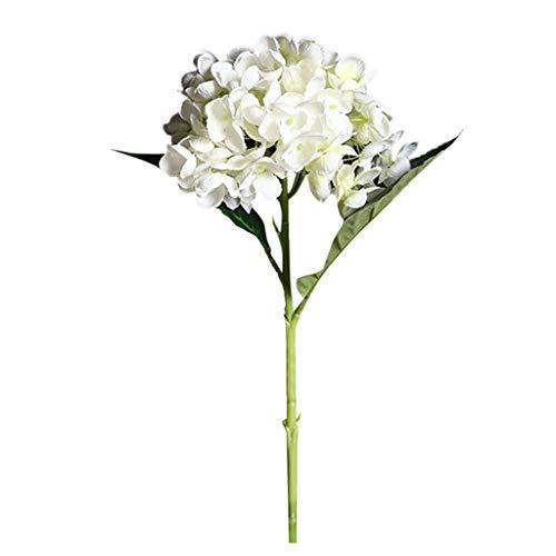 Lazzboy Künstliche Blume Hortensie Gefälschte Seidenblume Home Hochzeitsfeier Blumendekor Wohnaccessoires Kunstblumen Seide Pfingstrose Blumen Hochzeit Bouquet Braut Dekor(A)