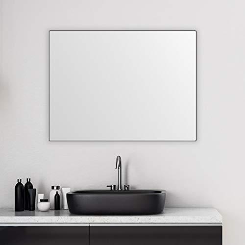 KARBELLAKA Bathroom Wall Mirror Vanity Mirror, 36x24 Black Large Bathroom Mirror, Rectangular -