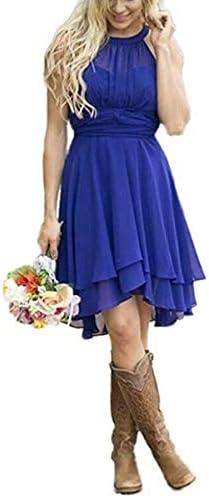 Royal blue short bridesmaid dress _image1