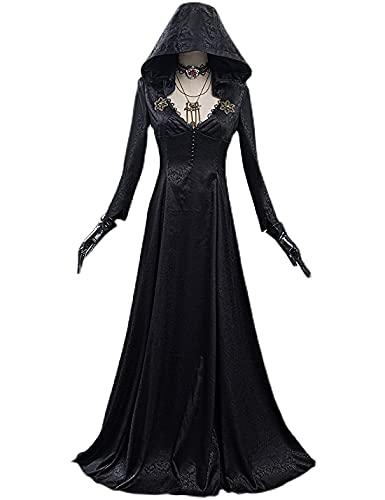 Re-Si-De-Nt Ev-iL Vi-ll-Ag-E Cosplay Kostüm - Damen Sexy Vintage Kleid Halloween Karneval Party Cosplay Outfit Anzug für Mädchen