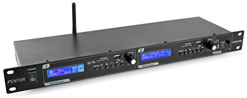 Fenton - VX2USD DJ-Player (USB SD Eingang, Schnittstelle Bluetooth, Aufnahmefunktion)–schwarz