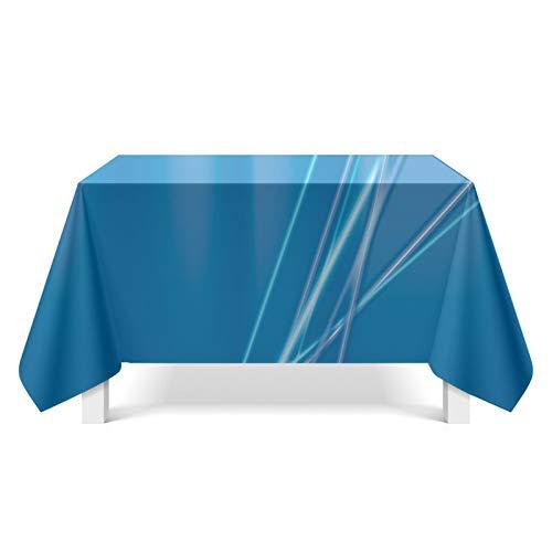 KnBoB Polyester Tischdecke Blau Aurora Tischdecke Größe 85x85CM