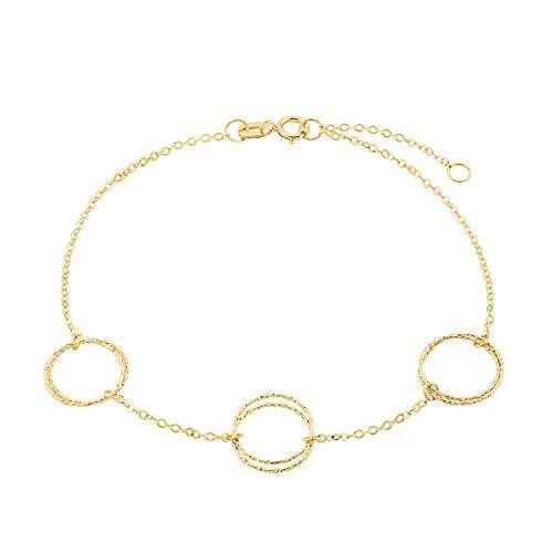 Pulsera amor para mujer, oro 375, círculo