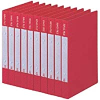 (まとめ)ビュートン リングファイル A4タテ2穴 200枚収容 背幅30mm レッド BRF-A4-R 1セット(10冊) 【×3セット】