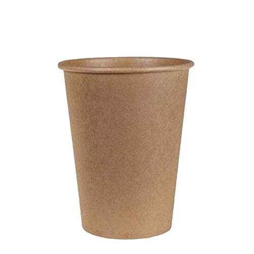 VASOMADRID 1000 Vasos CAFÉ Desechables Color Kraft 240 ml. 8 oz. 1000...