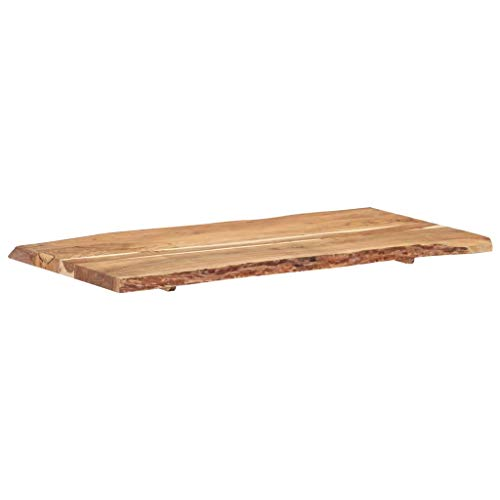 vidaXL Massivholz Tischplatte Baumkante Massivholzplatte Akazie 120x60x3,8 cm - 8