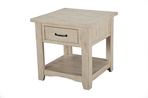 Martin Svensson Home Rustic End Table, Antique White