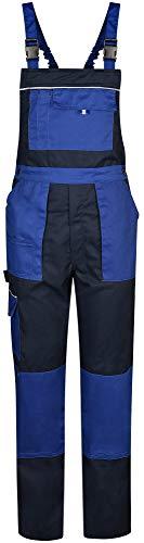 BWOLF Alpha Salopette de travail pour homme avec poches latérales multifonctionnelles, poches arrière Bleu - Bleu - M