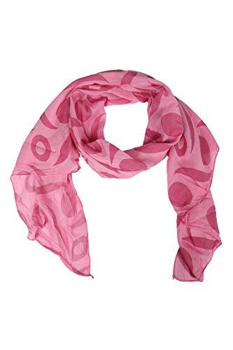 Zwillingsherz Seiden-Tuch Damen mit schlichtem Muster - Made in Italy - Eleganter Sommer-schal für Frauen - Hochwertiges Seidentuch/Seidenschal - Halstuch und Chiffon-Stola Dezent Stilvoll rosa