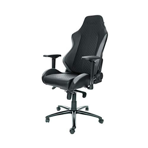 OUY Computerstuhl, Gaming-Stuhl, Chefsessel, Drehstuhl, ergonomischer Stuhl, Rückenlehne, ESL-zertifiziert, Größe M, geeignet für 1,75-184 m, Material, farbe, Large