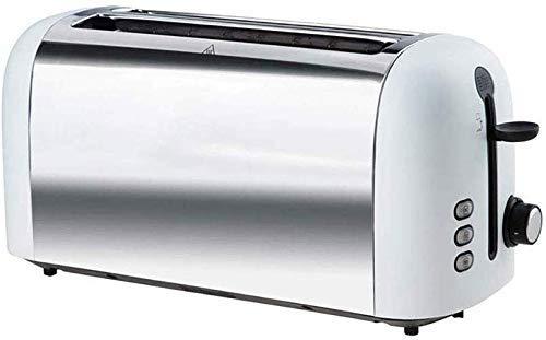 TEHWDE broodrooster met 4 sneden, roestvrij staal, verlengbaar brood, broodmachine, heeft een pauze verwarming, ontdooifunctie, afneembare kruimelbak