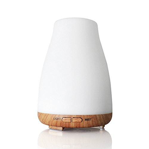 150ml Aroma Diffuser, CMYK Aromatherapy Essential Oil Diffuser Ultrasonic, Cool Mist Humidifier with Colorful LED Lights Noise Reduction Design for Yoga, bedroom, Office, Spa.