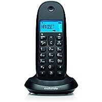 Motorola C1001LB+ - Teléfono fijo, color negro