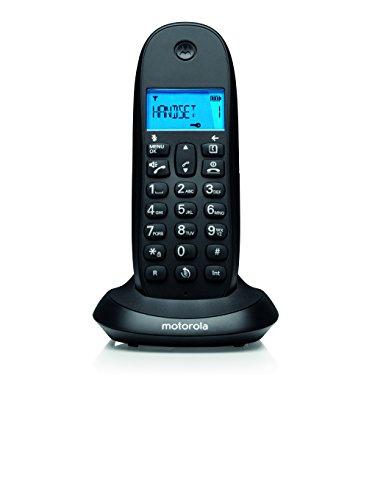 Motorola C1001, Teléfono Fijo, DC-in jack, Negro