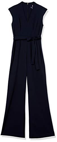 Tommy Hilfiger Damen Bow Tie Jumpsuit Kleid, Sky Captain, 36