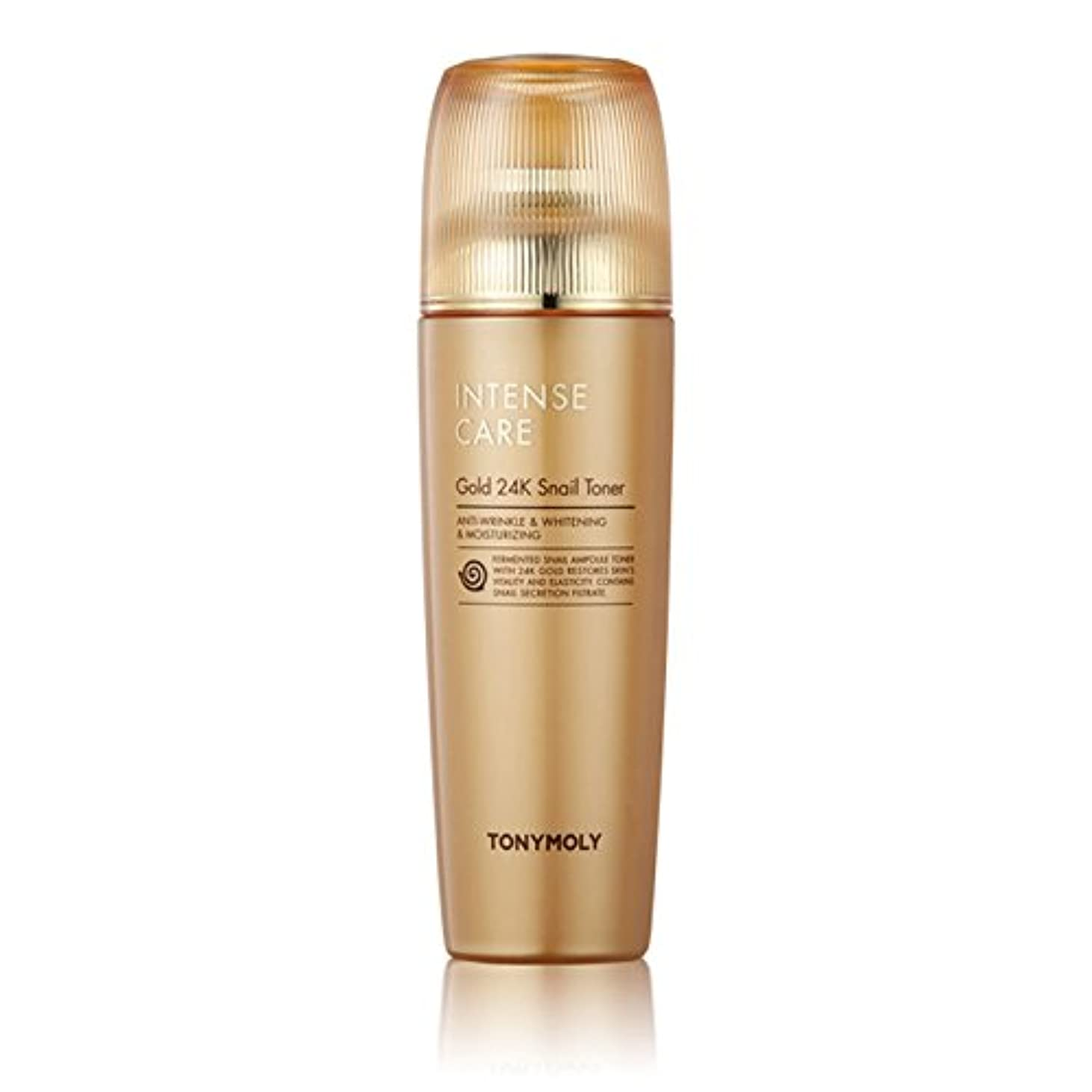 ボタン泣く配分トニーモリー Tonymoly Intense Care Gold 24K snail Toner