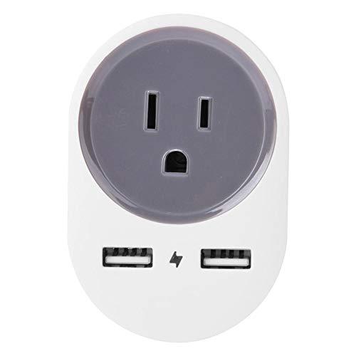 Adaptador de Enchufe de Viaje UE a Japonés de EE. UU. Con Interfaz USB Dual para Tableta de Teléfono Móvil 110-240V/10A, Adaptador de Enchufe de Alimentación(Blanco)